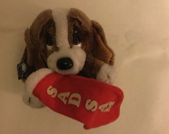 Vintage sad Sam dog plushy six inches tall