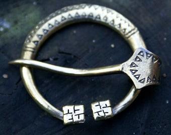 Viking brooch Fibula Gotland 10-11 century  Barette Pin for scarf or shawl Vikings jewelry Vikings brooches