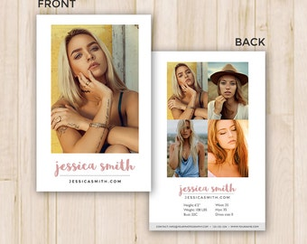 Modeling Comp Card Template - Photoshop PSD *INSTANT DOWNLOAD*