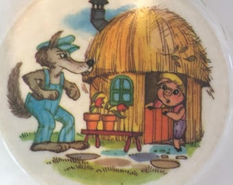 Three Little Pigs Bowl 1970's