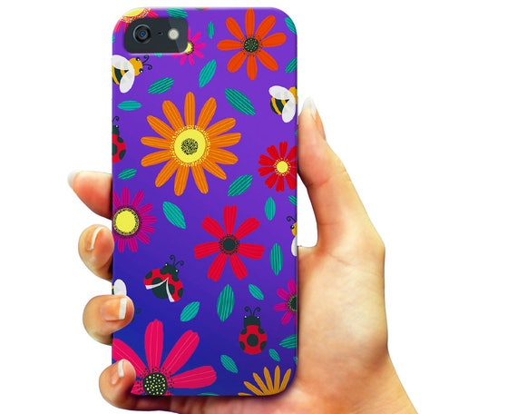 Flowers Galaxy Note 5 Case, Floral iPhone 7 Case, Kids Galaxy S6 Case, Lady Bug iPhone 6s Case, Teen iPhone 5S Case, Girl Galaxy S7 Case