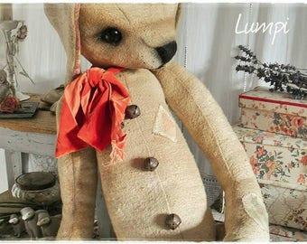 Made of an old burlap sack! XXL stuffed animal rabbit