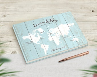 Travel Wedding Guest Book, Travel Theme Wedding, Guestbook Alternative, Wedding Sign In Book, Destination Wedding Album Journal Scrapbook