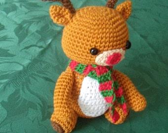 Rudy reindeer Red-nosed crochet cotton