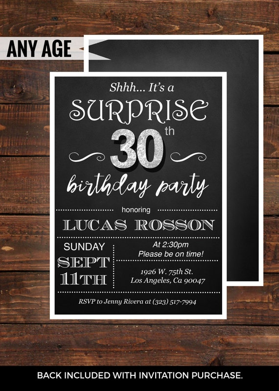 30th birthday invitations – gangcraft, Birthday invitations