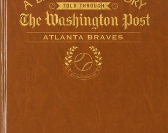 Washington Post Atlanta Braves Baseball Book - Leatherette - with embossing on front cover