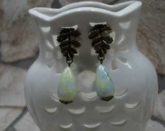 "Earrings ""Elegant leaf miracle"""