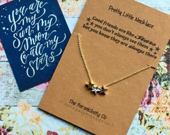 Pretty Little Necklace - Good Friends Are Like Stars...