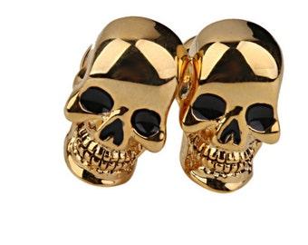 Gold Skull Cufflink-k11