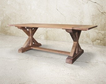 Dining Table, Table, Reclaimed Wood, Trestle Table, Extension Table, Handmade, Rustic