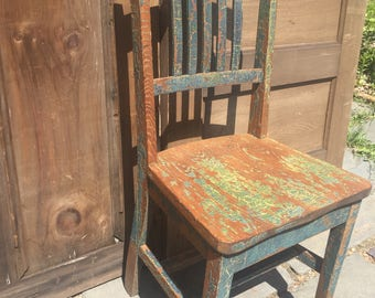 Antique Chippy Wood Chair
