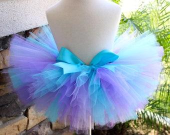 Purple and Aqua Tutu, Purple Lavender and Blue Tutu, Mermaid Tutu, Birthday Tutu, Toddler Tutu, Baby Tutu, Colorful Tutu