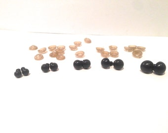 100 units/set 6/8/9/10/12 mm eye needle safety of black accessories for your doll doll eyes, bears puppet animal puppets
