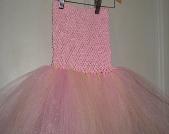 Pink Tutu-bustier and fishing, size from 2 to 6 years