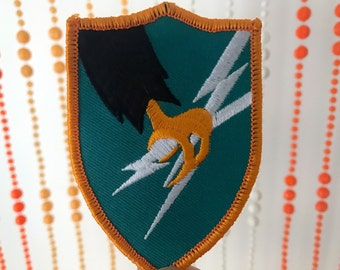 Vintage Style Military Claw and Lightning Bolt Shield Patch