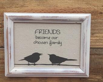 Going away gift,Best friend gift,Girlfriends frame,shabby chic art,canvas print,friends gift,housewarming gift,going away gift for friend