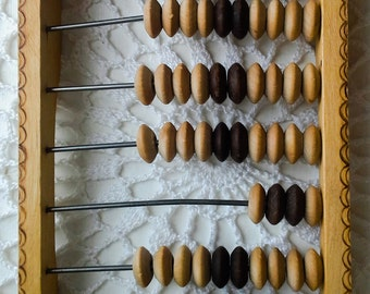 Soviet vintage abacus Wooden abacus Russian vintage abacus Children abacus Wood abacus Russia abacus Old abacus Vintage calculator Antique