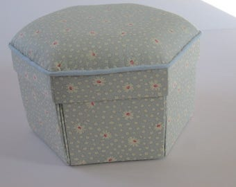 Handmade Fabric Etui Sewing Box
