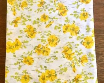 Vintage Twin Flat Sheet / Twin Floral Flat Sheet
