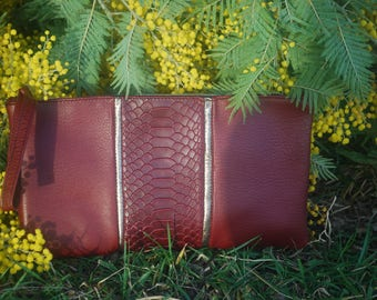 Cover red Burgundy and gold leather