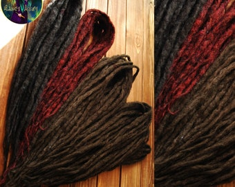 Set of synthetic dreads double ended synthetic dreadlocks DE natural look brown black burgundy