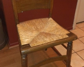 vintage folk shaker chair handmade 1940's or earlier antique great condition