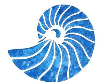 Nautilus Shell Stencil