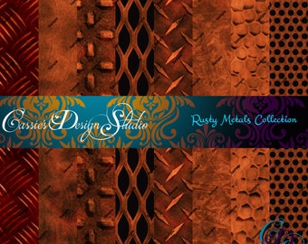 Rusty Metals Digital Paper Collection