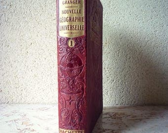 Great old book of geography - colored maps & engravings - new geography world - volume 1-