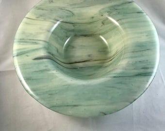 Smoky green swirl