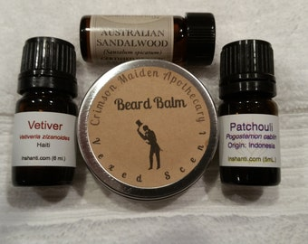 Dashingly Dapper Beard Balm Soft Salve  in 1 OR 2 oz screw top tin various scents