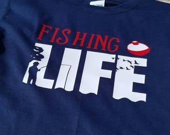 Fishing shirt, Toddler, kids fishing life shirt, fishing shirt, fishing life, kids fishing life shirt, Boys fishing shirt, Boys Shirt