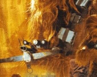 Star wars Chewbacca and Rey minky throw
