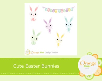 Cute Easter Bunnies, Easter Planner Stickers, Erin Condren Life Planner