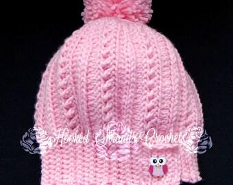 Crochet Slouch hat, Slouch Beanie, Winter hat, Ladies hat, Child's hat, Women's slouch, Knit Hat, Textured hat, Stocking cap, Men's Hat