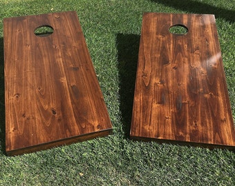 Bean Bag Toss Game Corn hole- Rustic Solid Hardwood Made in the USA
