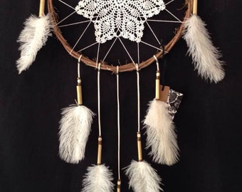Dream Catcher with Ostrich feathers