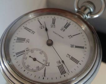1906 Waltham 18 size Pocket Watch.Stunning Movement!Awesome Damaskeening.24 Hour Dial. Free Insured Shipping!!