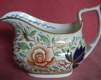 Antique c.1820 Imari Pattern Creamer or Milk Jug London Shape Pattern 103