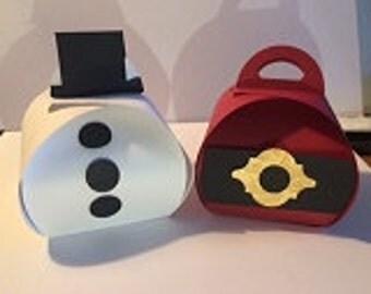Snowman and Santa Treat Boxes (12)