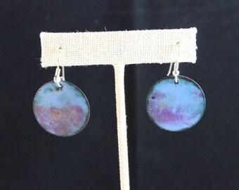 Enameled Copper Earrings (041917-023)