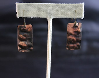 Hammered Copper Earrings (05212017-023)
