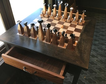 Regal Chess table and set