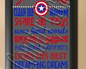 A true Superhero Captain America     SVG, PNG, JPEG