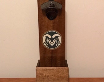 Wall Mounted Bottle Opener - Colorado State Rams