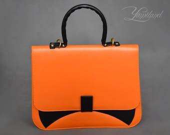 Faux leather bag | vegan leather handbag | Velma scooby doo | cosplay handbag | leather purse | anime bag | anime handbag | anime purse