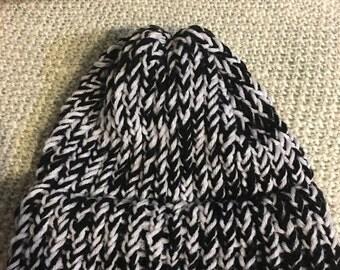 NEW ITEM! Handmade Black and White Winter Hat