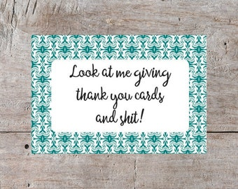 Sarcastic Thank You Card, Funny Thank You Card, Swear Word Thank You, Mocking Thank You Card, Digital Thank You Card, Printable Thank You