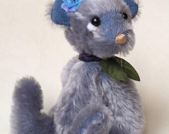 Blue Mohair Artist Bear by Chicago Bear Co: Bluebell