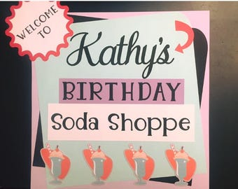 50's Soda Shoppe sign